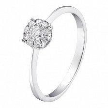 Кольцо в белом золоте Иветта с бриллиантами