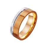 Золотое обручальное кольцо Полет