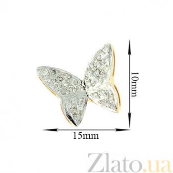Золотые серьги с бриллиантами Бабочки в желтом цвете ZMX--ED-6176y_K