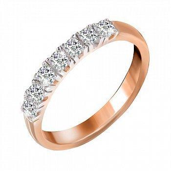 Серебряное кольцо Хельга с цирконием и позолотой 000025445