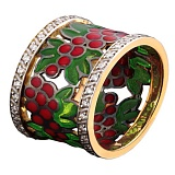 Золотое кольцо с бриллиантами Калина