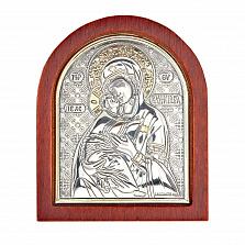 Серебряная Владимирская икона Божьей Матери