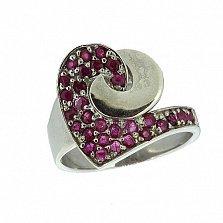 Серебряное кольцо с рубинами Фиделия
