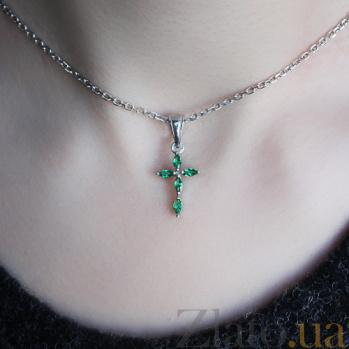 Серебряный крест с маркизами Исцеление 000010569