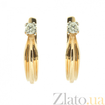 Золотые серьги с бриллиантами Мира ZMX--ED-5521_K