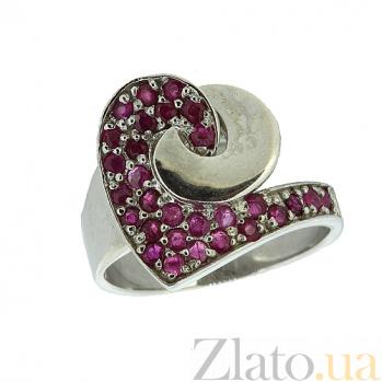 Серебряное кольцо с рубинами Фиделия ZMX--RR-6451-Ag_K