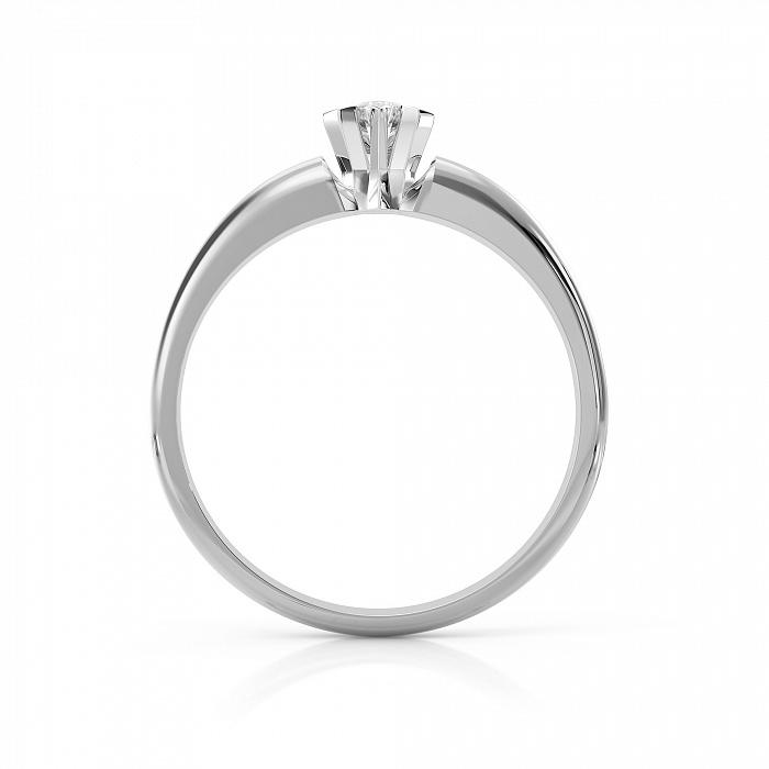 Золотое помолвочное кольцо Вдохновение в белом цвете с бриллиантом VLA--15109