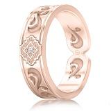 Мужское обручальное кольцо из розового золота с бриллиантом Во сне и наяву