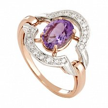 Золотое кольцо Азерра с александритом и фианитами