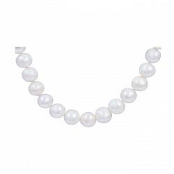 Серебряные бусы с белым жемчугом Офелия 000015601