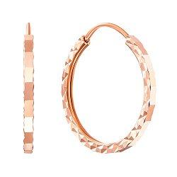 Серьги-кольца из красного золота, d18мм 000007324