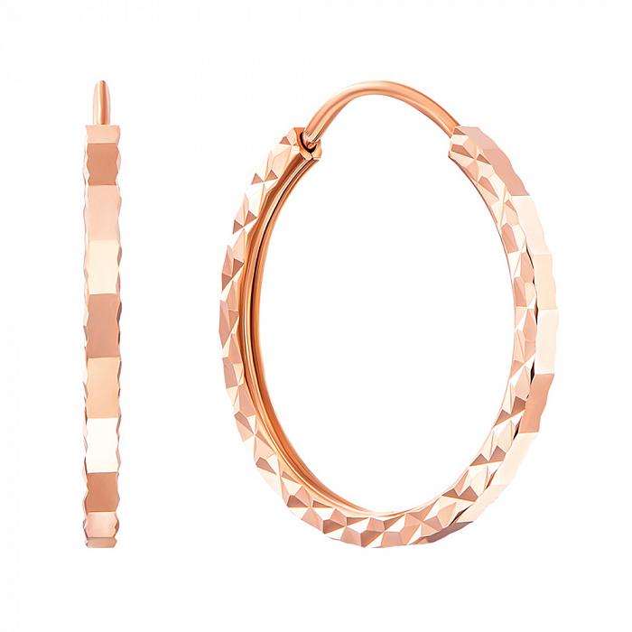 Серьги-кольца из красного золота, d15мм 000007324 20860/01/2