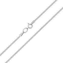 Серебряная цепочка Лития в классическом панцирном плетении, 1мм 000079016