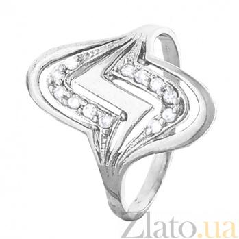 Серебряное кольцо с фианитами Шторм 000028051
