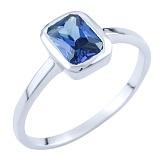 Серебряное кольцо Ромилда с синтезированным танзанитом