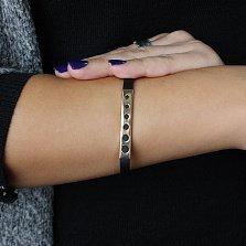 Каучуковый браслет с серебряными вставками Исмена
