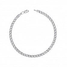 Серебряный браслет в плетении ромб 000122993