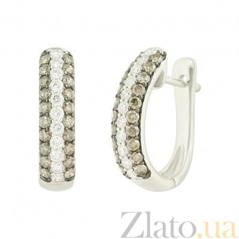 Золотые серьги с бриллиантами Заванна 1С759-0043
