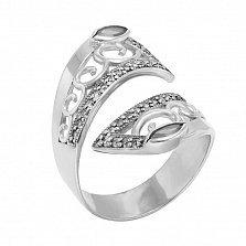Серебряное кольцо Катрина с белыми фианитами