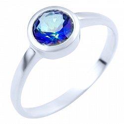 Серебряное кольцо с топазом мистик 000056110
