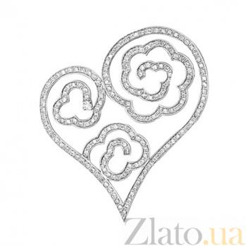 Подвеска Сердце Ждет с бриллиантами VLT--8314-0-00
