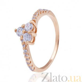Золотое кольцо с фианитами Искушение EDM--КД0476