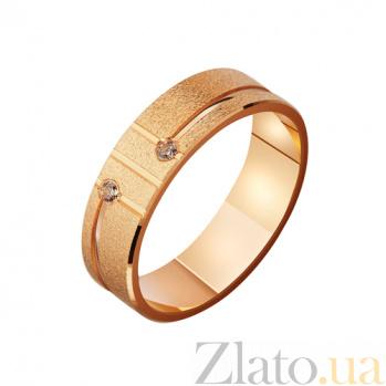 Золотое обручальное кольцо с фианитами Мгновение любви TRF--4121165