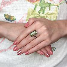 Кольцо из белого золота с бериллом Путеводный