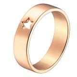 Кольцо в красном золоте Звездочка
