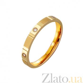 Золотое обручальное кольцо с цирконием Энергия TRF--43253