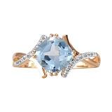Золотое кольцо Адрианна с топазом и бриллиантами