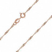 Серебряная цепь Фламенко с позолотой, 3 мм, 55 см