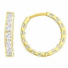 Золотые серьги Марокко с кристаллами Swarovski в желтом цвете