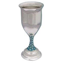 Серебряный бокал с эмалью 000043433