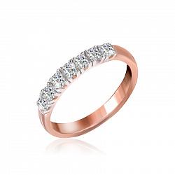 Серебряное кольцо Хельга с цирконием и позолотой