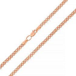 Цепочка из красного золота в Двойном якорном плетении, 4мм 000133577