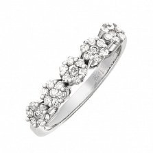 Золотое кольцо Цветочное чудо с бриллиантами
