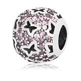 Серебряный подвес-шарм Мотыльки с кристаллами циркония