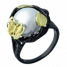 Серебряное кольцо Весна с жемчугом