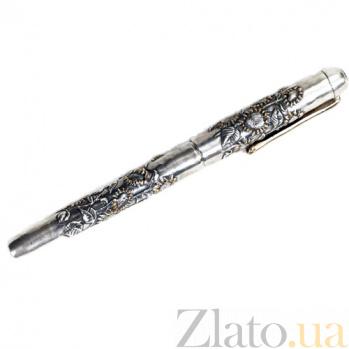Серебряная ручка с позолотой Подсолнухи 999