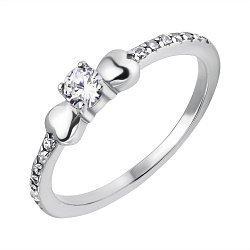 Серебряное кольцо с фианитами 000118370