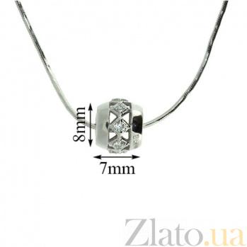 Серебряный подвес с бриллиантами Blessing ZMX--PD-6891-Ag_K