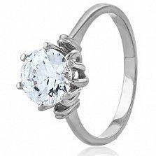 Золотое кольцо с кристаллом Swarovski Брианна