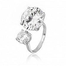 Серебряное кольцо с фианитами Эликсир
