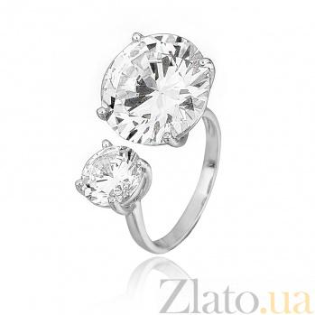 Серебряное кольцо с фианитами Эликсир 000028084