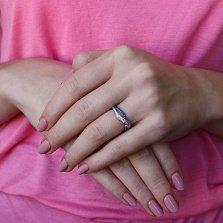 Серебряное кольцо Анита с синим и белым цирконием