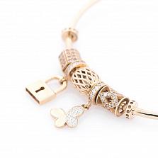 Золотой браслет Бонита с кристаллами циркония