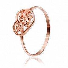 Позолоченное серебряное кольцо Большое сердце
