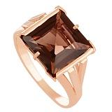 Золотое кольцо Палермо с раухтопазом