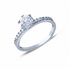 Серебряное кольцо с цирконами Моя муза